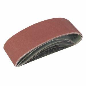 Silverline Sanding Belts 75 x 533mm 5pce 40, 60, 2 x 80, 120G 310680