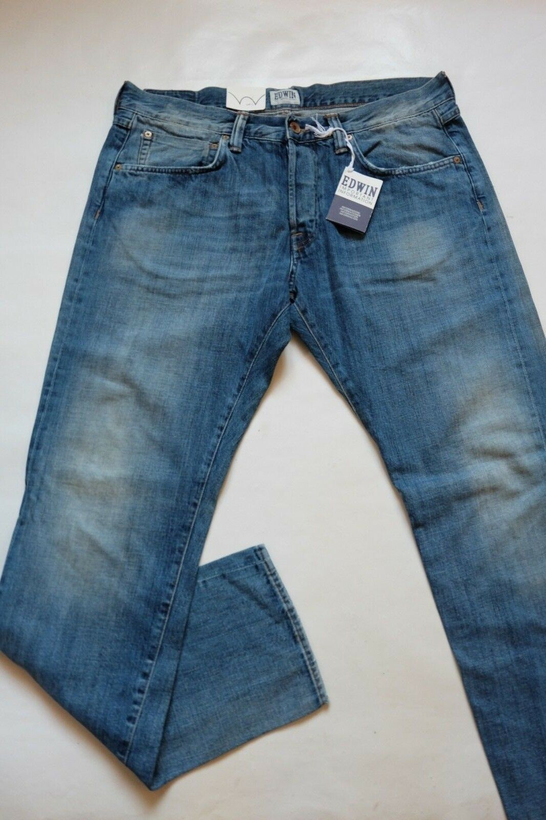 JEANS EDWIN HOMME ED 55 RELAXED TAPERED  (white listed-G15)  W30 L32 VAL