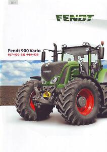 "Prospekt ""Fendt 900 Vario"", 2014, (927, 930, 933, 936, 939) - Fendt-Traktor - München, Deutschland - Prospekt ""Fendt 900 Vario"", 2014, (927, 930, 933, 936, 939) - Fendt-Traktor - München, Deutschland"