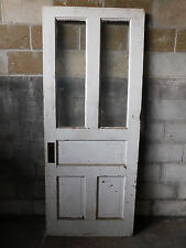 Antique Victorian Style Entry Door - 1900 Five Pane Fir Architectural Salvage