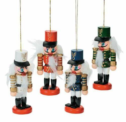 Blue FLASH SALE》4 New Nutcracker Soldier Ornaments》White Red Green