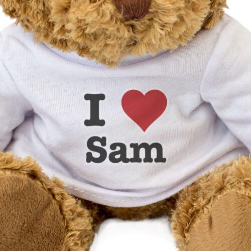 Teddy Bear Cute Cuddly Gift Present Birthday Valentine Xmas I LOVE SAM NEW