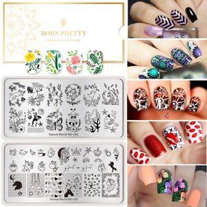 Tocan-Flamingo-Nail-Art-Stamping-Plates-Flower-Animal-Image-Stamp-Template-DIY