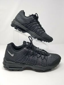 Details about Nike Air Max 95 Ultra Jacquard Black Silver 749771 001 Mens 9.5 Sneakers