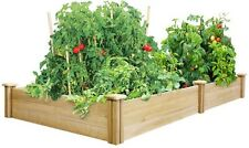 Greenes Fence 4 Ft. X 8 Ft. X 10.5 In. Dovetail Cedar Raised Garden Bed Outdoor