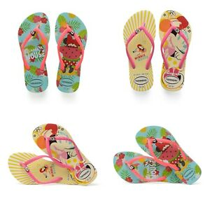 Details About Havaianas Disney Minnie Mouse Tropical Yellow Flip Flops For Kids Girls Summer