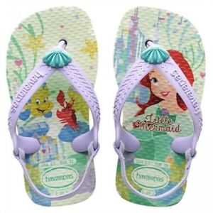 1436ecf4ba51e3 Havaianas Kids Baby Princess Little Mermaid Ariel Flip Flops Sandals ...