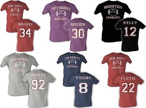 Hershel-Walker-Rozier-Jim-Kelly-Reggie-White-Young-Flutie-USFL-Football-T-Shirt
