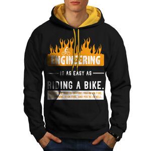 Engineer-Ride-Bike-Men-Contrast-Hoodie-NEW-Wellcoda