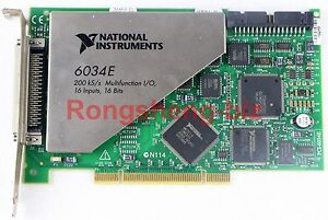 Used National Instruments PCI-6034E NI DAQ Card 16 bit Analog Input Tested