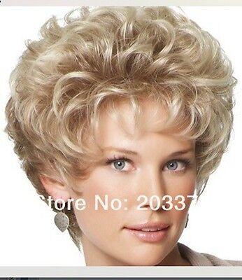 Natural Light Blonde Straight Short Hair Wigs Women's Fashion Wig