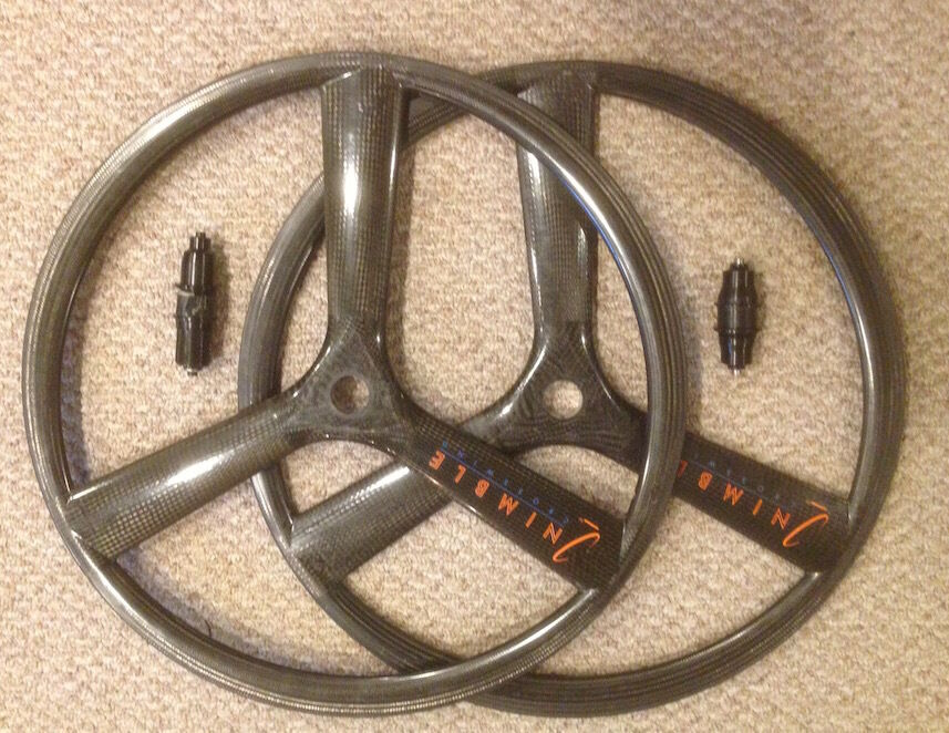 Nimble Crosswind Tri Spoke 3 Wheel Set Rims Hubs 700c-specialized for hed winds