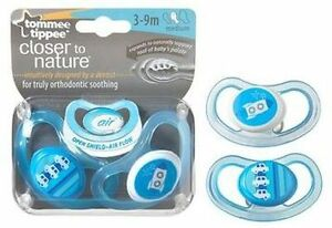 Tommee-Tippee-CTN-2-Pack-C-Air-Style-Soothers-3-9m-Blue-Car-Rocket-for-Boys