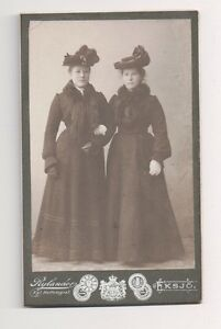 Vintage-CDV-Unknown-Wealthy-Society-Sisters-Rylander-Photo-Germany