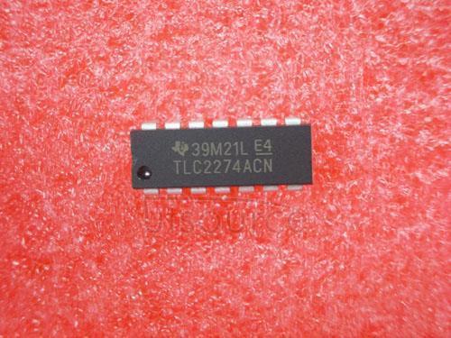 5PCS TLC2274ACN  Encapsulation:DIP-14,Advanced LinCMOSE RAIL-TO-RAIL