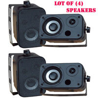 Lot Of (4) Pylehome Pdwr30b 3.5'' Indoor/outdoor Waterproof Speakers (black) on sale
