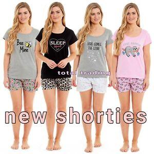 Ladies womens cotton pyjamas shorts nightshirt  nightie sleepwear loungewear