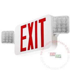 Red All Led Exit Sign Amp Emergency Light Standard Combo Ul Combor2