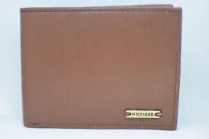 Tommy-Hilfiger-Men-039-s-RFID-Protecting-Genuine-Leather-Wallet-Light-Brown