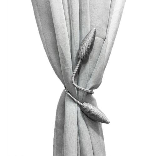 2x tische Vorhang Gardinen Halter Raffhalter tverschluss Zugband NEU DHL