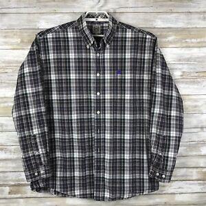 Cinch-Men-039-s-Shirt-Sz-L-Long-Sleeve-Multi-Color-Plaid-Collared-Button-Down
