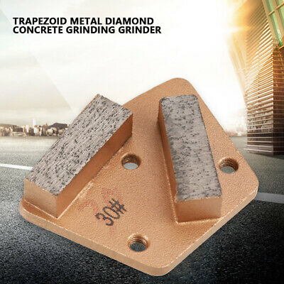 Strong and Durable for Grinder Grit 30,All Concrete Grinding Machines 3 Holes 3 Round Smooth Surface Teeth Trapezoid Diamond Concrete Grinding Disc Pad Diamond Grinding Pad