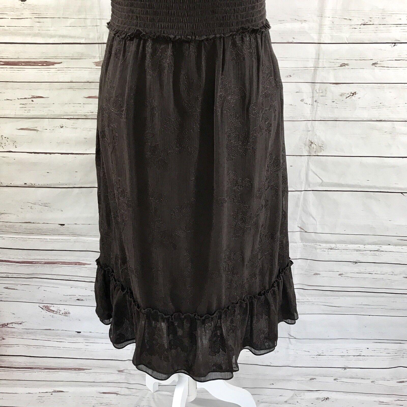 065cf712aae ... Antonio Melani Sleeveless Sleeveless Sleeveless Dress Empire Waist  Brown Embroidery Floral Size 10 a26467 ...