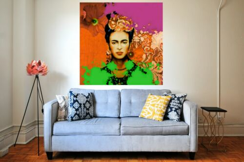 Motiv Frida Portrait Kahlo XXL102x102 cm Pop Art//SilberAlu//Avantgard//Modern Art