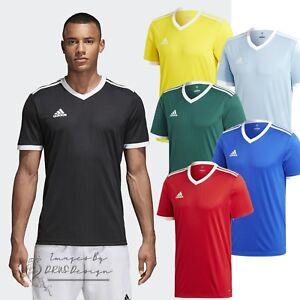 Detalles de Adidas tablilla 18 para Hombre de Manga Corta Camiseta De Fútbol Camisetas deportes de equipo ver título original