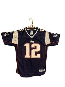 Details about Kids Tom Brady New England Patriots NFL Reebok Football Jersey YOUTH XL 18-20