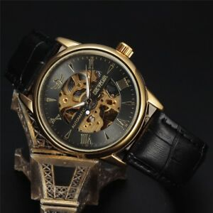 SEWOR-Men-039-s-Transparent-Skeleton-Automatic-Mechanical-Analog-Band-Wrist-Watch