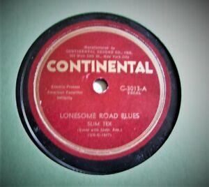 SLIM-TEX-COWBOY-ROGERS-Lonesome-Road-Blues-Strawberry-Roan-CONTINENTAL-78