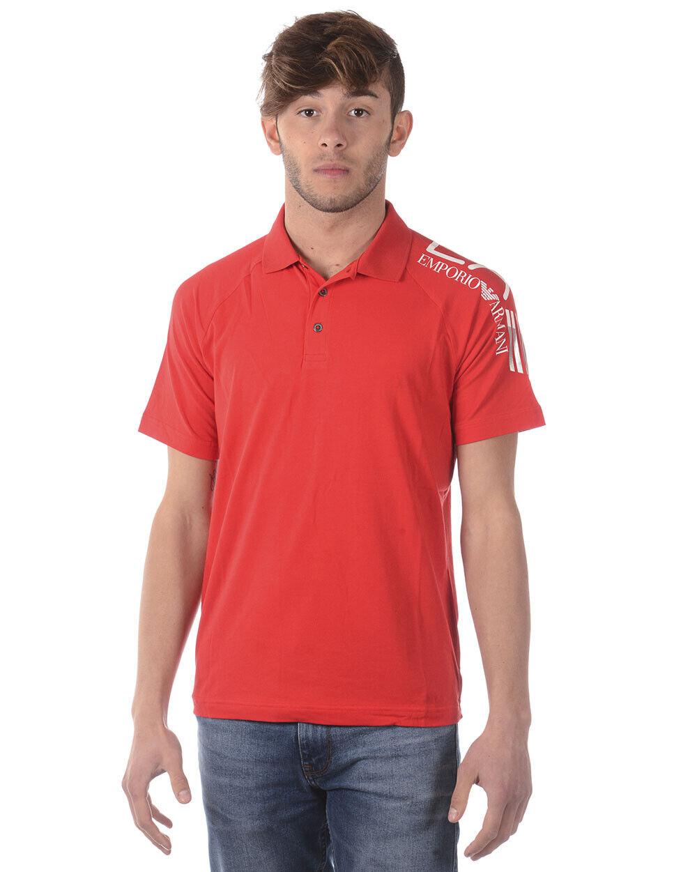 Emporio Armani EA7 Polo hemd baumwolle Man rot 3ZPF56PJ03Z 1451 Sz L MAKE OFFER
