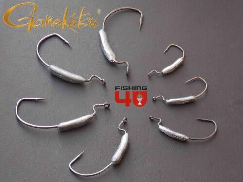 Gamakatsu Weighted Worm Hooks weedless hook fishing split belly shad fishing