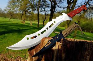 Rechercher Des Vols 2er Machette + Busch Couteau Bowie Hunting Couteau Machette Macete Cauteau Coltello-afficher Le Titre D'origine
