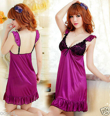 Sexy Nightgown Babydoll Sleepwear LACE Pajamas Night Wear Bridal Wedding Noble