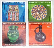 Níger 1975 467-70 317-20 handicrafts artesanía artesanía tipo Works mnh