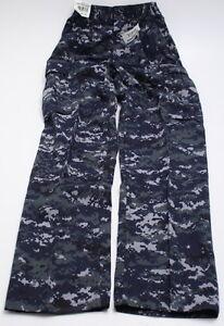 NEW US Navy Working Uniform NWU Digital Blue Camo X-Small ...