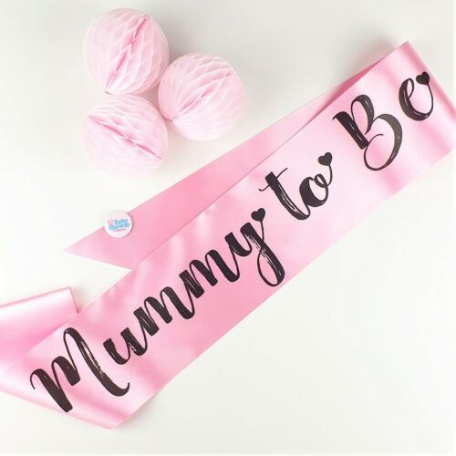 Nanny Pink Girl Grandma Big Sister To Be Aunty BABY SHOWER SASH- NEW Mummy