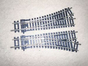 Actif R8072 / R8073 Nickel Silver Left & Right Points For Hornby Oo Gauge Train Sets