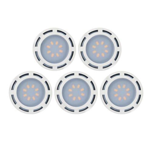5-Pack Westek KBLD-L5W-N1 3.6 in LED White Puck Light 3000K