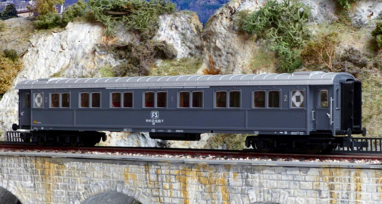 Roco 44711 H0 Reisezugwagen FS Italien Carrozza 1. 2.Klasse Typ AB grau grau    Praktisch Und Wirtschaftlich