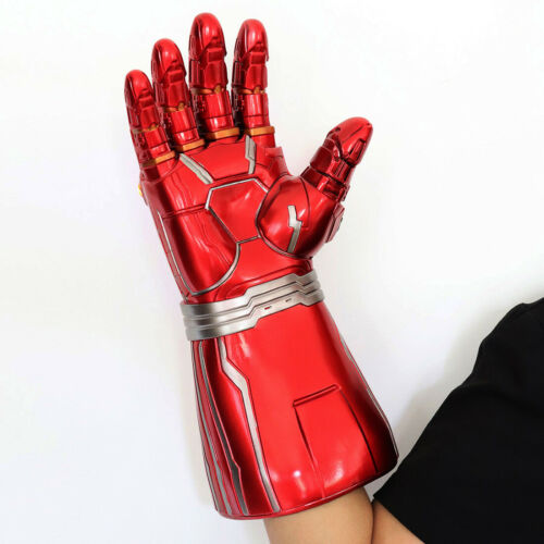 2019 Iron Man Nano LED Light Gloves Thanos Infinity Gauntlet Kids Adults Cos Toy