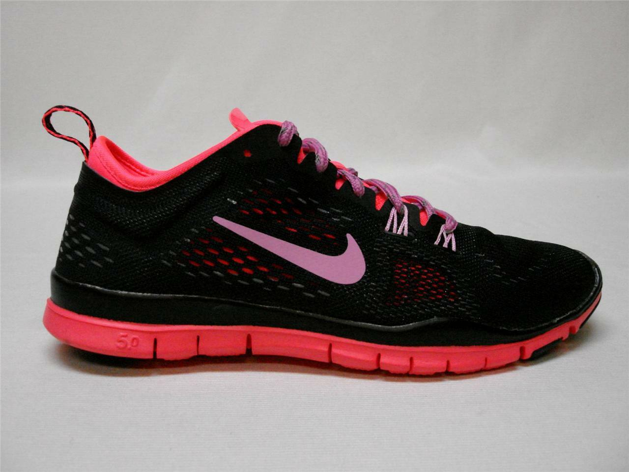 NIB NIKE FREE 5.0 TR FIT 4  WOMEN'S SHOES 6 BLACK AWESOME  SHOES