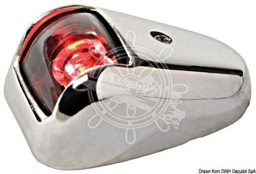 Osculati Watertight Stainless Steel Body Left Red LED Navigation Light 12//24V 1W