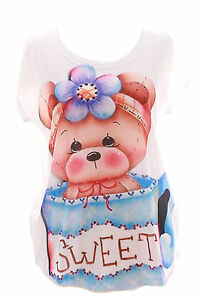 TP-32-TEDDY-OURS-BEAR-doux-manches-courtes-Tee-shirt-pastel-gothique-BL-harajuku