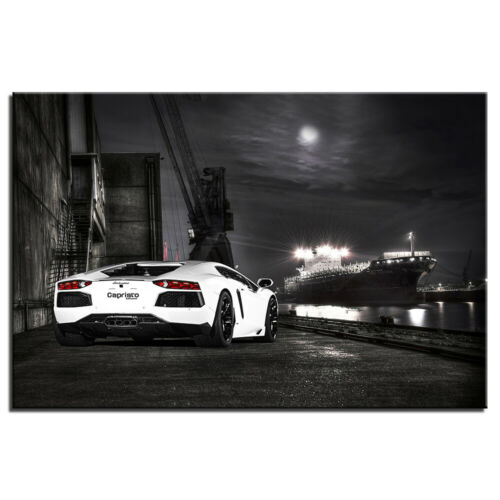 Lambo Aventador Super Car Poster Wall Art Picture Canvas Paintings 24X36inch