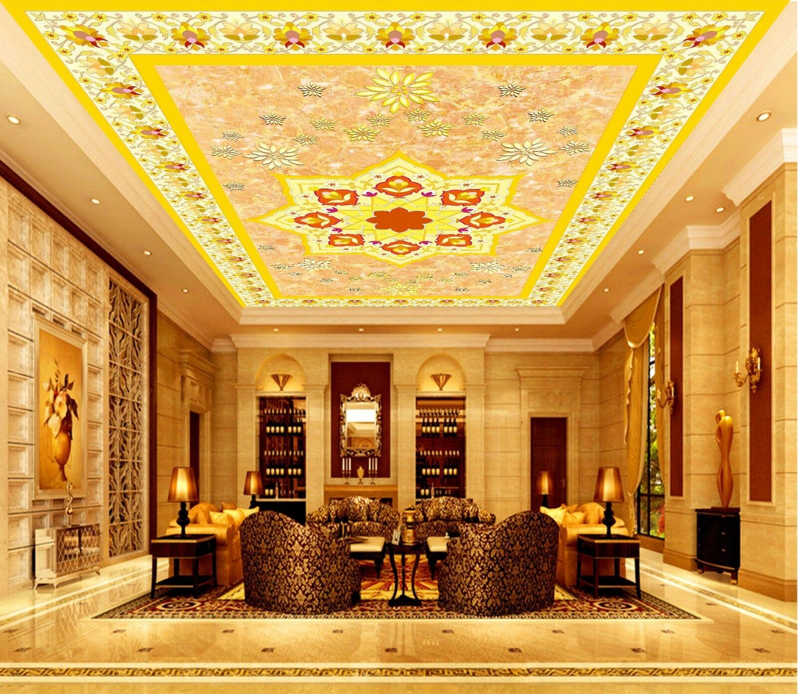 3D Cute Style Pattern 522 Ceiling Wall Paper Print Wall Indoor Wall Murals CA