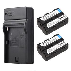 Fuer-Sony-NP-FM500H-A58-A65-A77-A550-A560-2X-NP-FM500H-Li-Ion-Akkus-Ladegeraete
