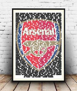 Arsene-Wenger-Arsenal-222-Players-Football-Poster-Wall-Art-All-Sizes